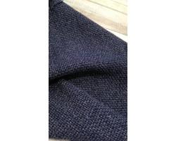 Fazenda 100% Lã Efeito Jaquard Azul/Pérola