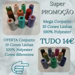 Mega Conjunto 10 Cones Linhas + Oferta de outro conjunto de 10 Cones de Linhas cores diferentes  100% Polyester