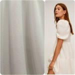 Crepe Fantasia Com Relevo Branco 98%Polyester, 2%Lycra