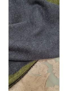 Fazenda 100%lã efeito espinha azul a um preço Unico Bombástico