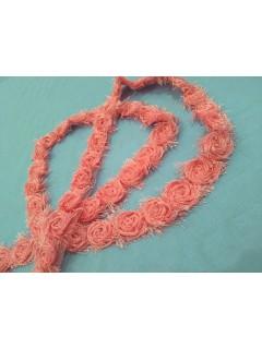 Fita Chanel Com Rosas - Rosa