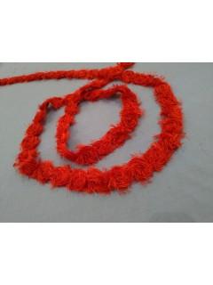 Fita Chanel Com Rosas - Vermelha