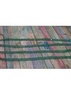Fita com lantejoulas Verde Garrafa