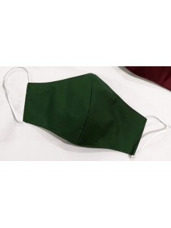 Máscara Reutilizável Cor Verde Garrafa