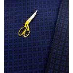 Malha Interlock Dupla Face 67% Polyester, 29% Viscose, 4% Lycra Azul Marinho e Azulão