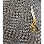 Malha Interlock 83% Polyester, 15% Viscose, 2% Lycra Cinza, Preto e Azul Claro