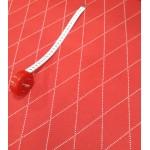 Malha Interlock Algodão Vermelho e Branco