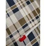 Malha Interlock  83% Polyester, 15% Viscose, 2% Lycra Xadrez Creme, Verde Seco e Azul
