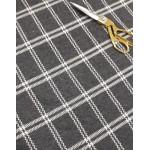 Malha Interlock 83% Polyester, 15% Viscose, 2% Lycra Xadrez Cinza com Branco
