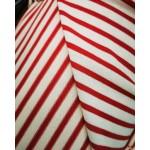 Promoção! Malha efeito tricot Vermelha/Branca