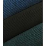 Malha Canelada Algodão, Polyester Efeito Tricot Preto