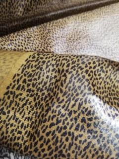 Lindíssima Malha Jersey 100%Algodão Estampado Com Película Impermeável- Amarela Mostarda