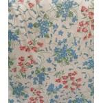 Nova Coleção! Micado Floral Com Azul, Vermelho e Verde