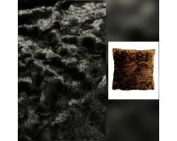 Magnifico Pêlo Malha 100% Polyester Preto com acabamento brilhante