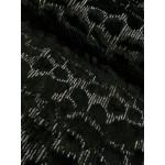 Pêlo com Lantejoula Prateada 100% Polyester
