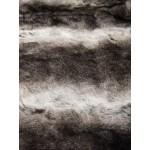 Pêlo 100% Polyester Médio/Curto Branco e Castanho