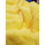 Pêlo 100% Polyester Curto Efeito Remoinho Amarelo
