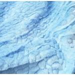 Pêlo Curto Efeito Escama Azul Bebé