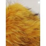 Pêlo Comprido 100% Polyester Amarelo Mostarda Com Sombreado Preto