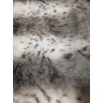Pêlo 100% Polyester Médio/Curto Branco e Cinza
