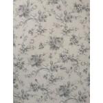 Piquet Floral Cinza