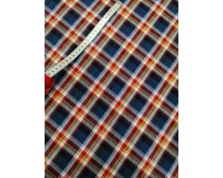 Vaiela 100% Algodão Xadrez Azul AMrinho, Vermelho e Amarelo
