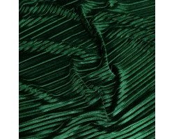 Veludo Malha Plissado Verde Garrafa